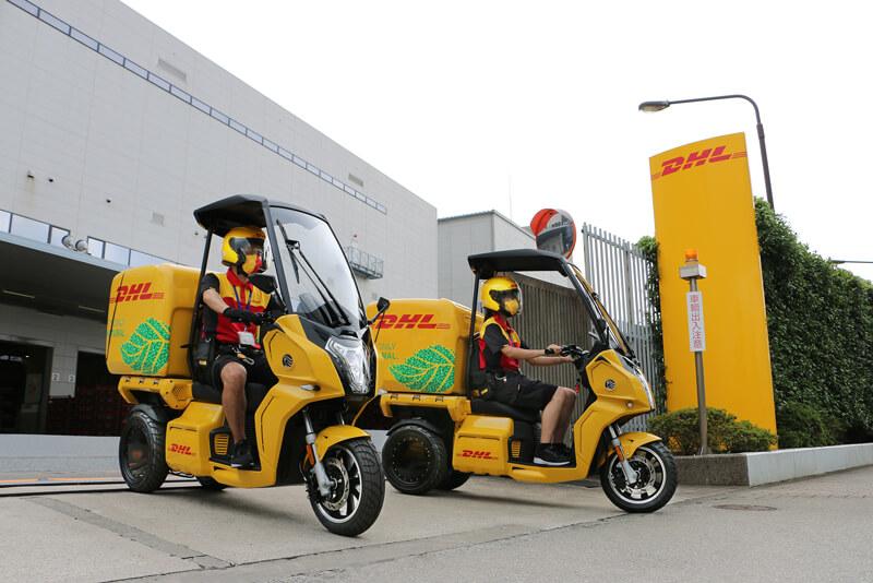 【アイディア】DHL ジャパンが電動3輪バイク「AA カーゴ α 4」を導入 記事1