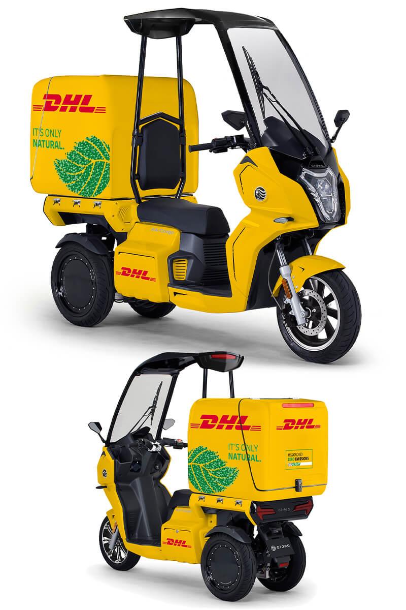 【アイディア】DHL ジャパンが電動3輪バイク「AA カーゴ α 4」を導入 記事4