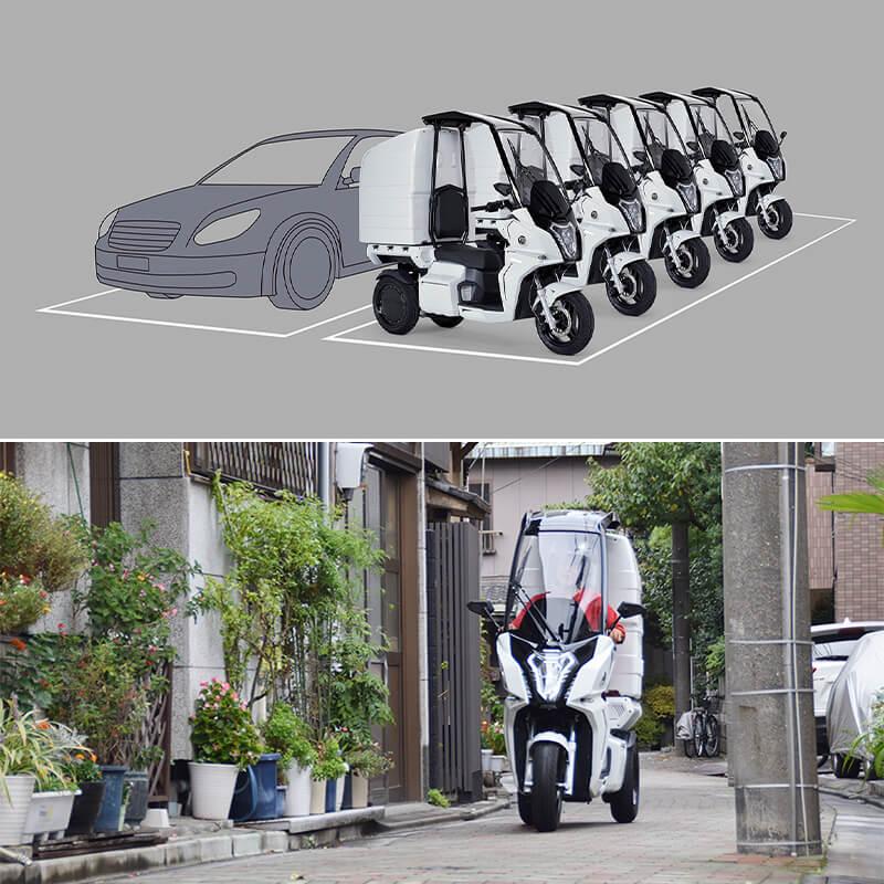 【アイディア】DHL ジャパンが電動3輪バイク「AA カーゴ α 4」を導入 記事5