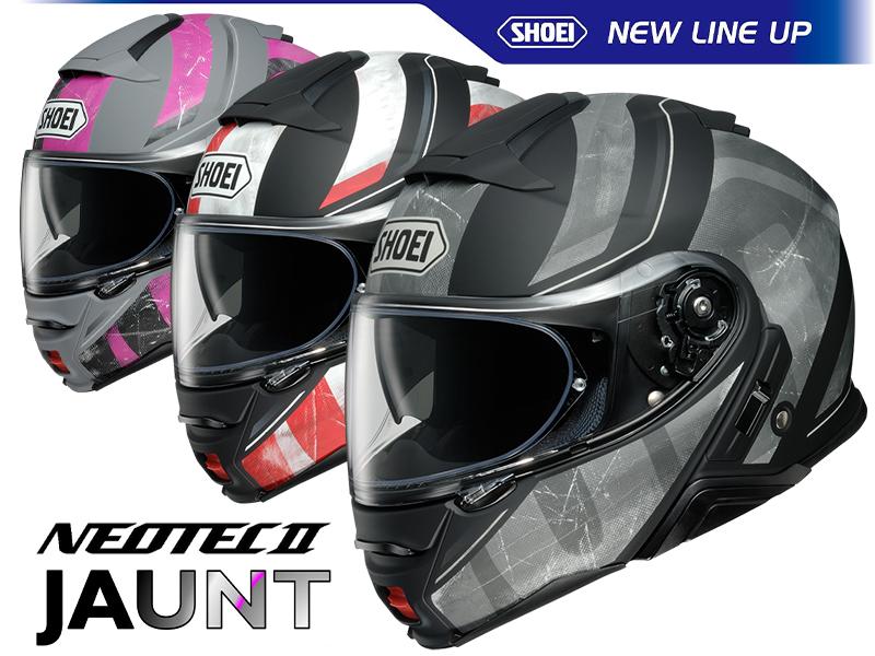 システムヘルメット NEOTEC II のグラフィックモデル「NEOTECII JAUNT」がショウエイから12月より受注限定販売!